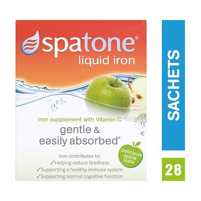 Picture of Nelsons Spatone Apple Flavour Natural Iron Supplement with added Vitamin C (28 Sachets)