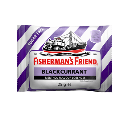 Picture of Fisherman's 25g Friend Blackcurrant Flavour Lozenges with Sweeteners