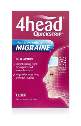 Picture of 4Head Quickstrip Headache and Migraine Relief Strips - Pack of 4
