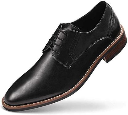 Picture of Men's Wingtip Dress Shoes Formal Oxfords 01 Black
