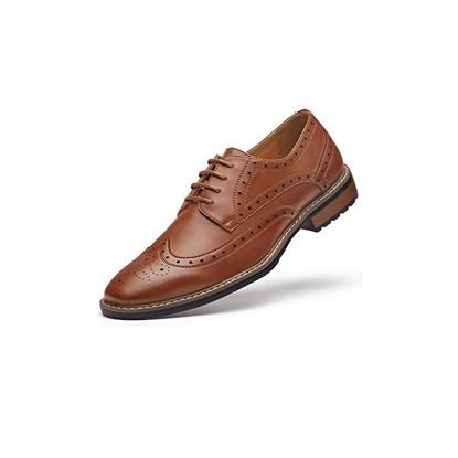 Picture of Men's Wingtip Dress Shoes Formal Oxfords 06 Brown