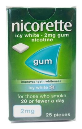 Picture of Nicorette Icy White 2mg Gum 25 Pieces