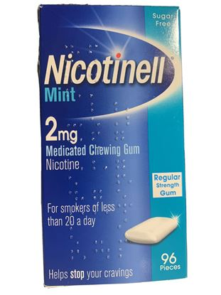 Picture of Nicotinell Nicotine Gum Stop Smoking Aid 2 mg Mint 96 Pieces 2 mg - 96 Pieces