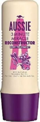Picture of Aussie 3 Minute Miracle Reconstructor Deep Conditioning For Damaged Hair 250 ml