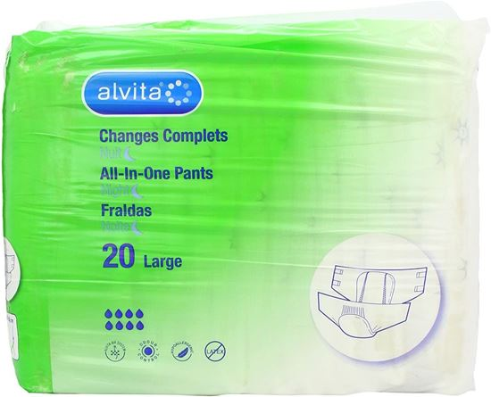 Picture of Alvita Incontinence All-In-One Pants Large Night 20