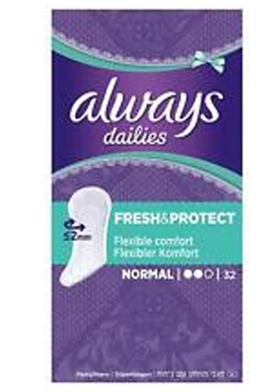 Picture of Always Dailies Fresh & Protect Normal Panty Liners 32 per pack