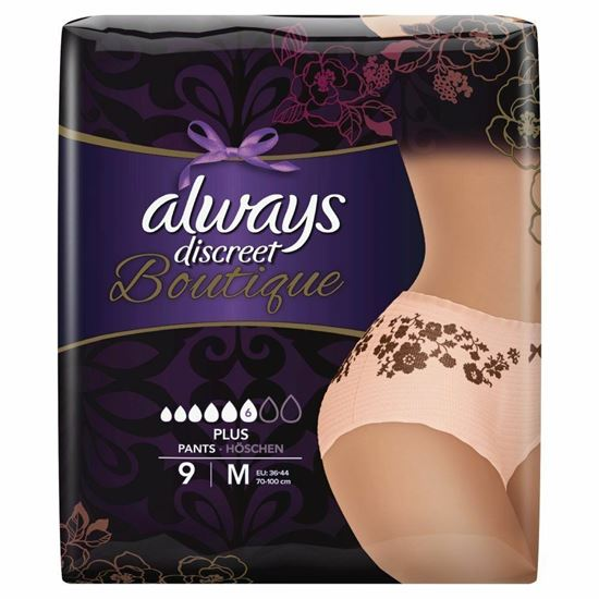 Picture of Always Discreet Boutique Underwear Incontinence Pants Plus Medium x 9