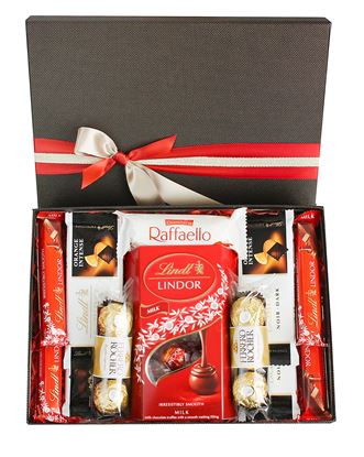 Picture of Chocolate Hamper Gift Selection Gift Box Present for All Occassions -  Favourite Lindt Treats Set 1