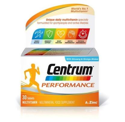 Picture of Centrum Performance Multivitamin & Minerals Plus Ginseng & Ginkgo Biloba Supplement 30 Tablets