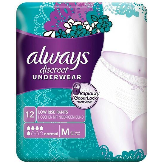 Picture of Always Discreet Medium Incontinence Pants - Pack of 12
