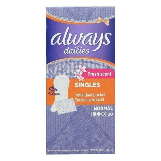 Picture of Always incontinence range liners fresh wrapped 20 pack