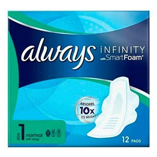 Picture of Always Infinity Normal Sanitary Towels with Wings 12 per pack