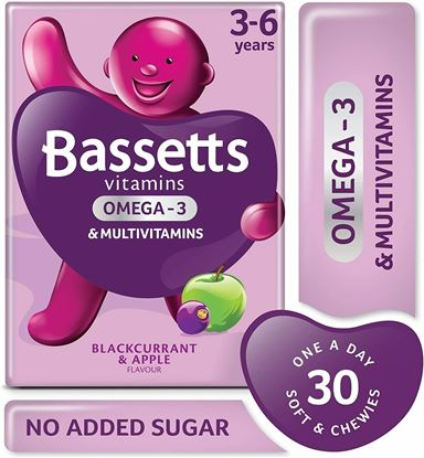 Picture of Bassetts Chewy Vitamins - 30 Pack - Multivitamins Omega 3 - For 3-6 Years